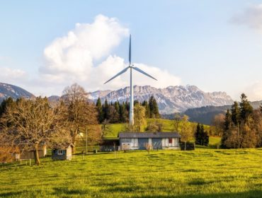 renewable power wind turbine and scenery